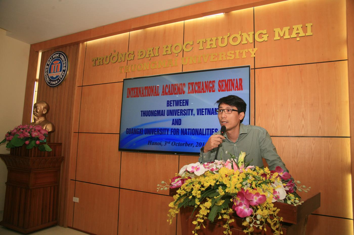 Mr Đào Thế Sơn –Vice head of Department of Foreign Affairs and Communications delivered an opening speech