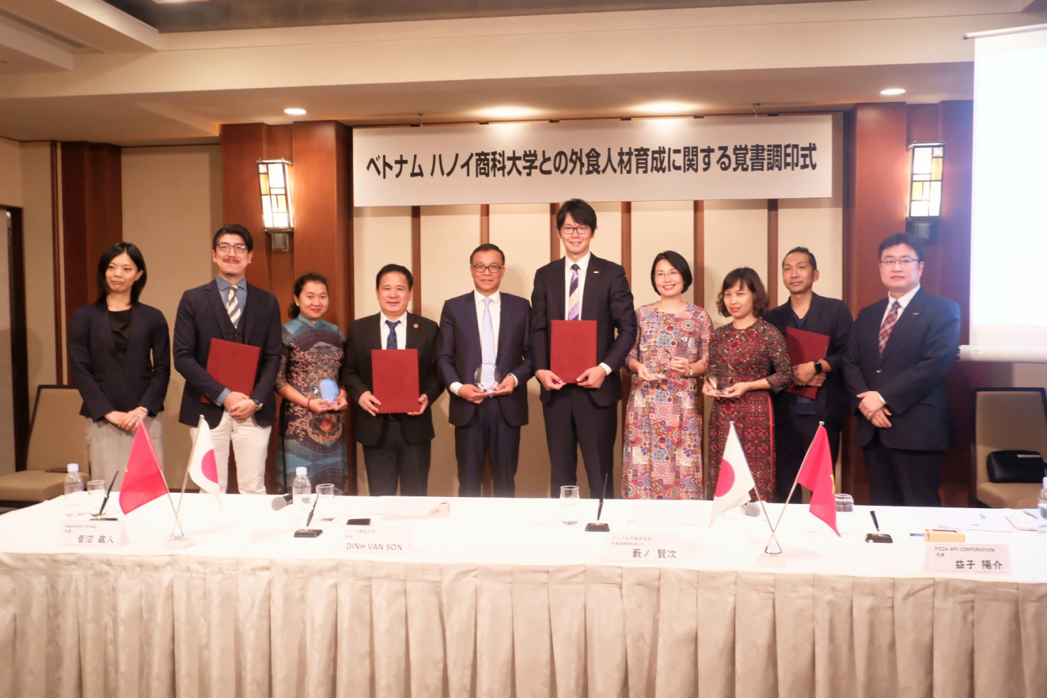 THUONGMAI UNIVERSITY INKS DEAL WITH JAPANESE COUNTERPARTS FOR SENDING STUDENTS OF HOSPITALITY AND TOURISM FACULTY TO JAPAN FOR INTERNSHIPS